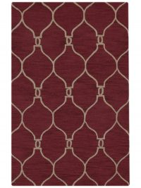 Hand-Tufted 8x11 Oushak Trellis Oriental Red Area Rug