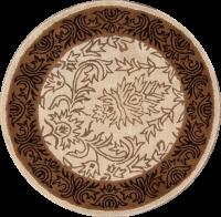 Hand-Tufted Ivory 5x5 Oushak Agra Oriental Round Rug