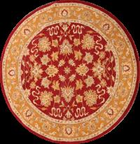 10x10 Agra Oushak Oriental Round Rug