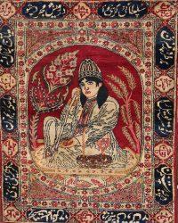 Pre-1900 Antique Minatory Ravar Kerman Persian Rug 2x3