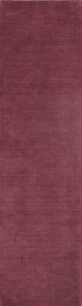 Purple 2x10 Gabbeh Indian Oriental Rug Runner