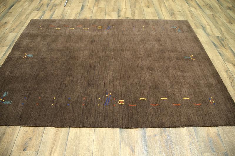 Dark Brown Modern 6x8 Gabbeh Oriental Area Rug