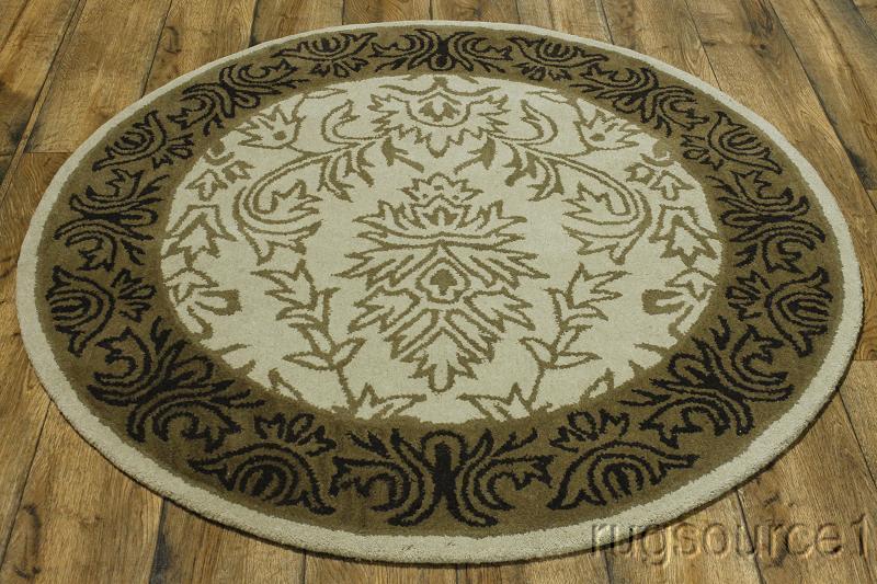 Classic 5x5 Oushak Agra Oriental Round Rug