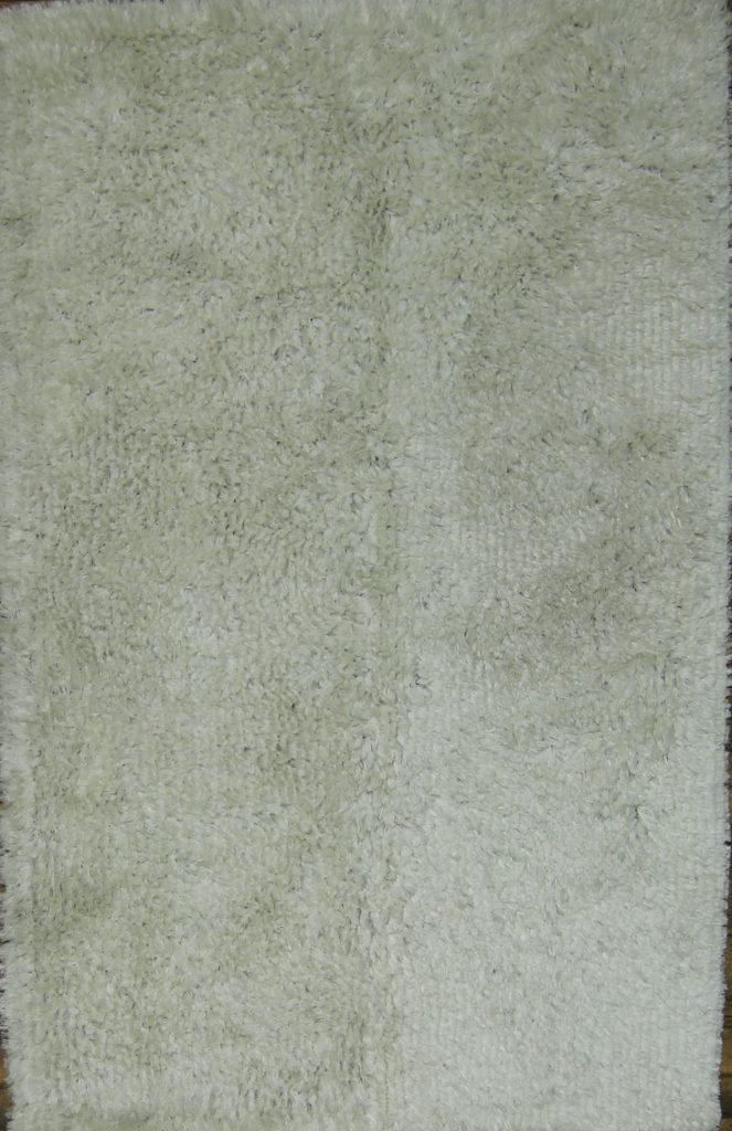 5x8 White Shaggy Shag Oriental Area Rug