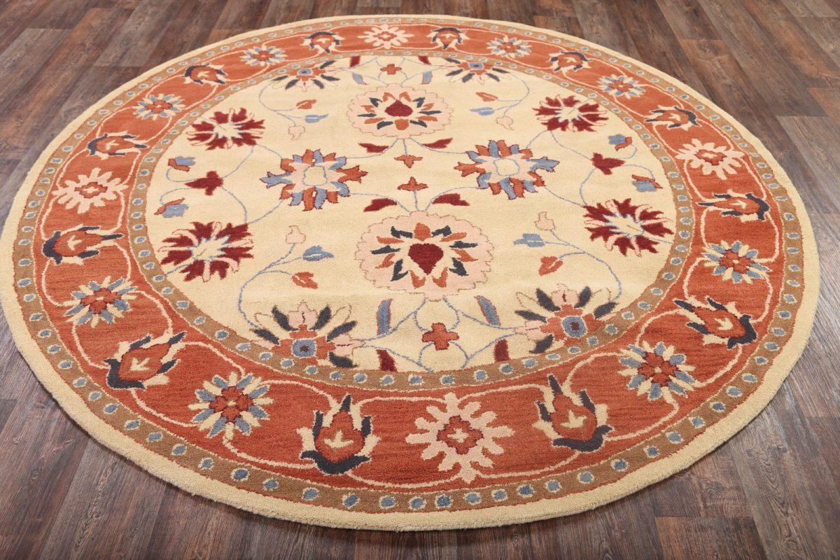 Round 8x8 Oushak Ziegler Oriental Area Rug