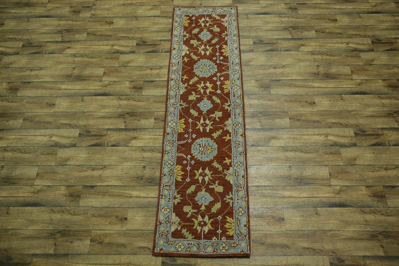 2x10 Oushak Agra Oriental Runner Rug
