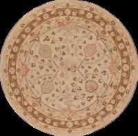 8x8 Oushak Agra Oriental Round Rug