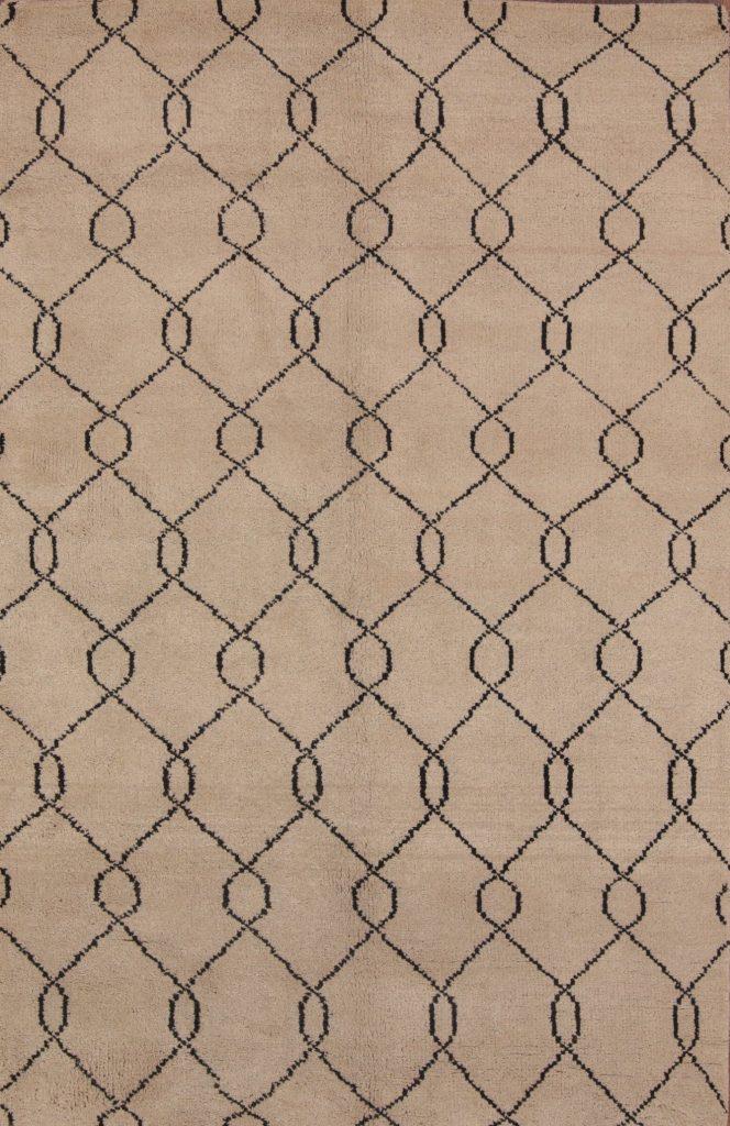 5x8 Moroccan Trellis Oushak Oriental Area Rug