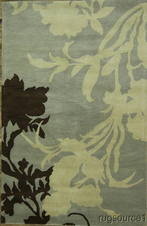 Transitional Floral 5x8 Oushak Oriental Area Rug