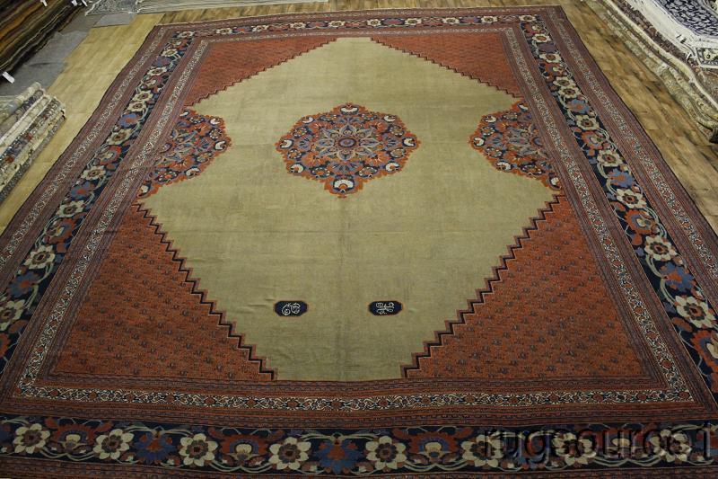 Pre 1900 19X24 Dorokhsh Persian l Area Rug