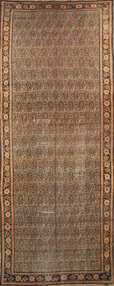 7x17 Senneh Bidjar Persian Area Rug