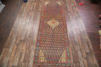 Antique 5x16 Karabakh Bote Caucasian Russian Oriental Rug