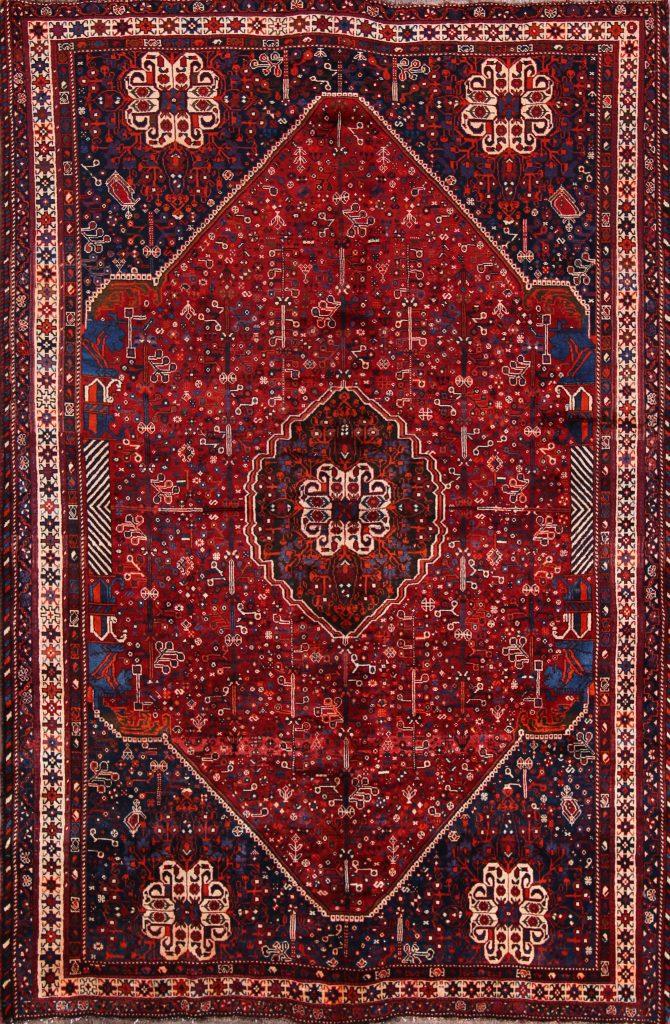 7x10 Abadeh Shiraz Persian Area Rug