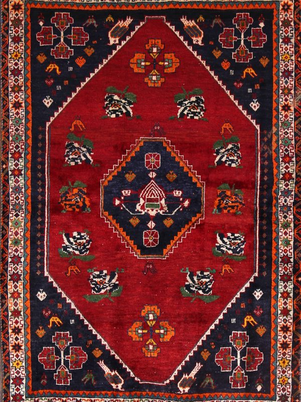 4x5 Ghashghaei Shiraz Persian Area Rug