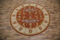 Round 10x10 Oushak Agra Oriental Area Rug