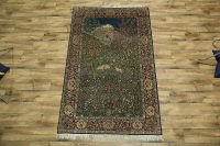 Pre-1900 Collectible Antique 5x8 Kerman Ravar Persian Area Rug