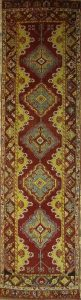 Antique 3x13 Oushak Turkish Oriental Runner Rug