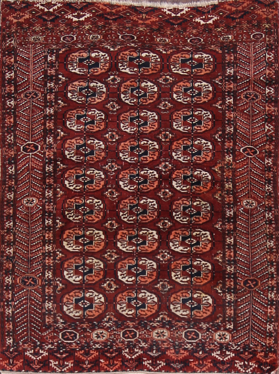 4x5 Turkoman Persian Area Rug