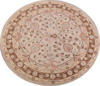 Round 8x8 Agra Kashan Oriental Area Rug