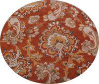 Round 8x8 Agra Oriental Area Rug