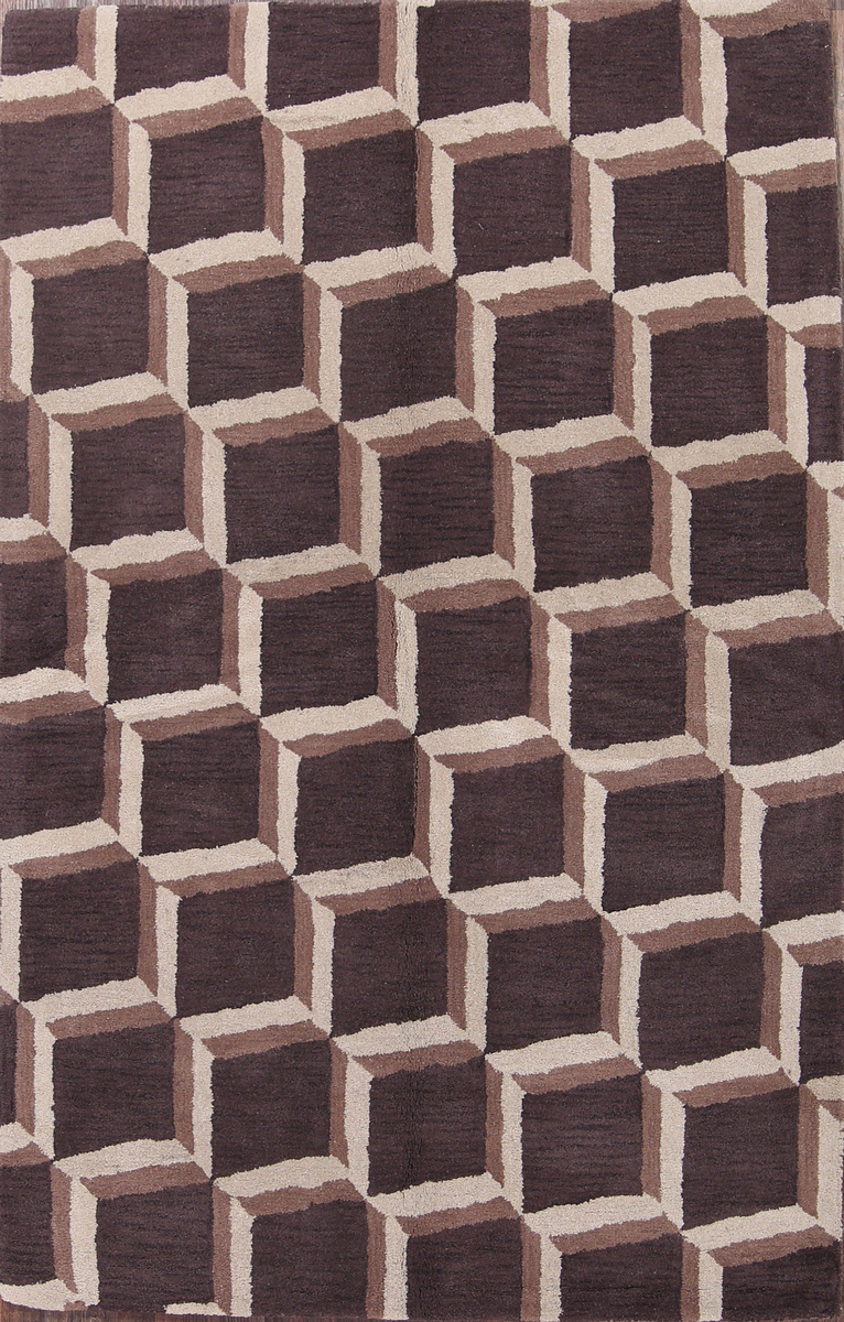 5x8 Cube Design Oushak Oriental Area Rug