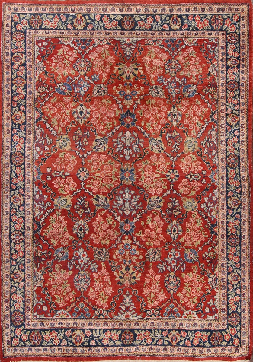 7x10 Mahal Persian Area Rug