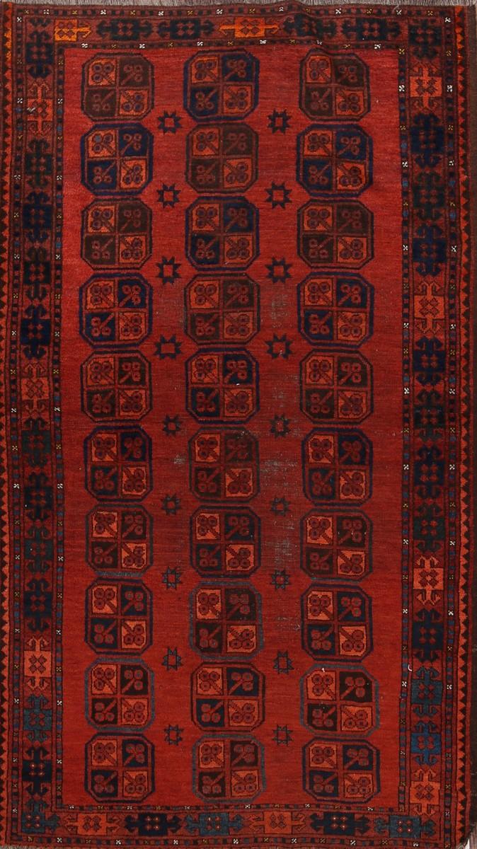 4x7 Balouch Afghan Oriental Area Rug