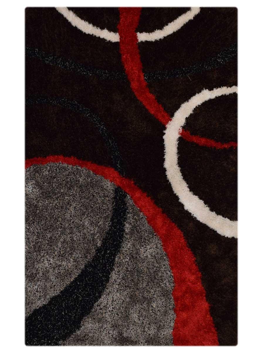 5x8 Modern Shaggy Oriental Area Rug