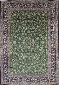 10x13 Signed Kashan Persian Area Rug