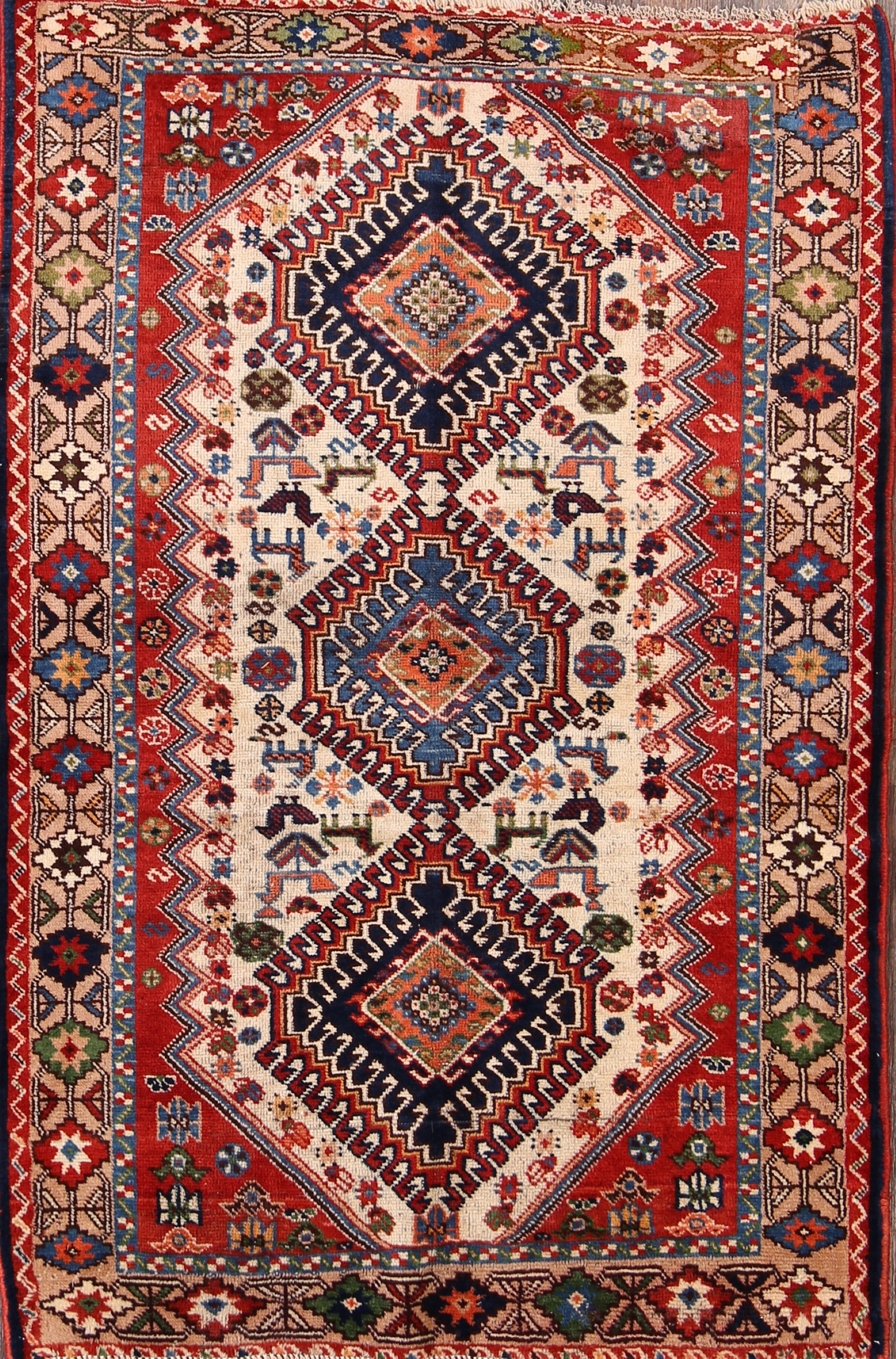 feet cotton hand white and blue cms size woven inch rug rugs