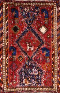 4x6 Gabbeh Kashkoli Shiraz Persian Area Rug
