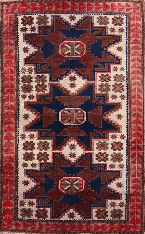 4x6 Kazak Russian Oriental Area Rug