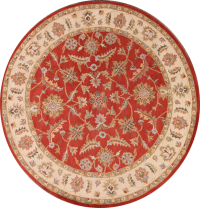 10x10 Oushak Agra Oriental Round Rug