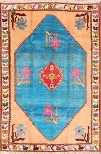 5x7 Gabbeh Kashkoli Shiraz Persian Area Rug