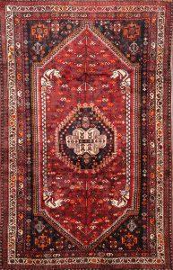 5x8 Ghashghaei Shiraz Persian Area Rug