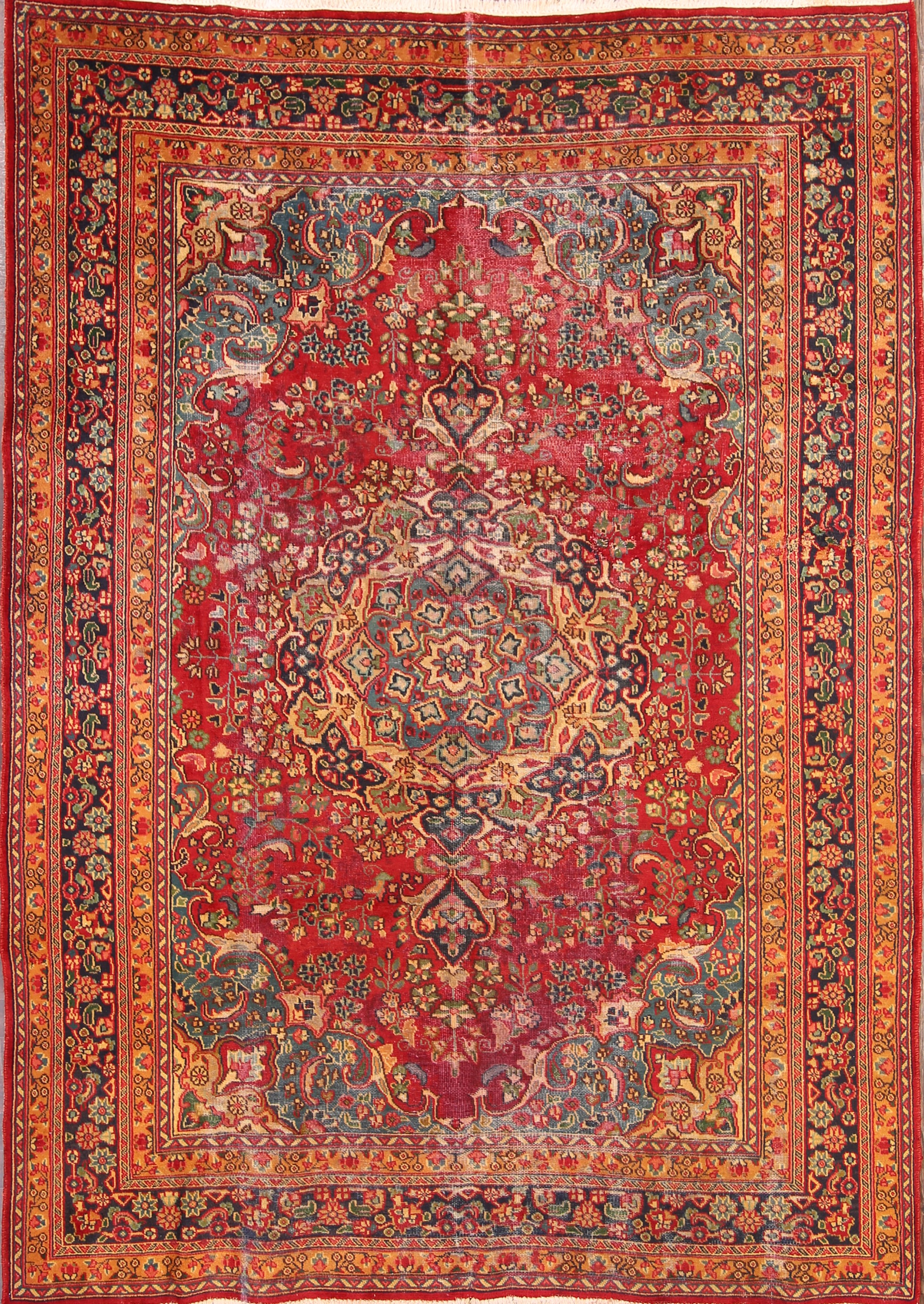 6x9 Mashad Persian Area Rug