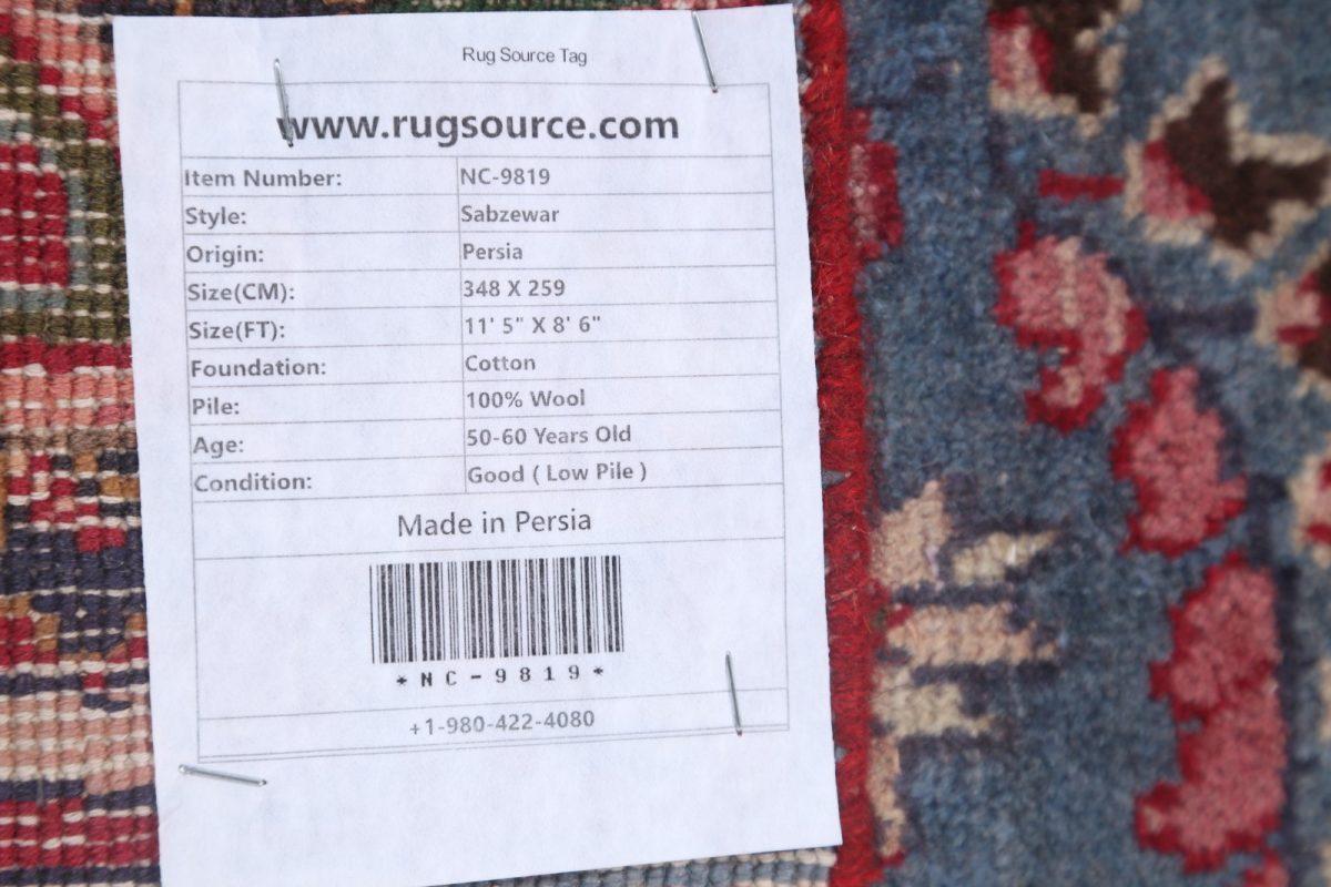 9x12 Mashad Persian Area Rug