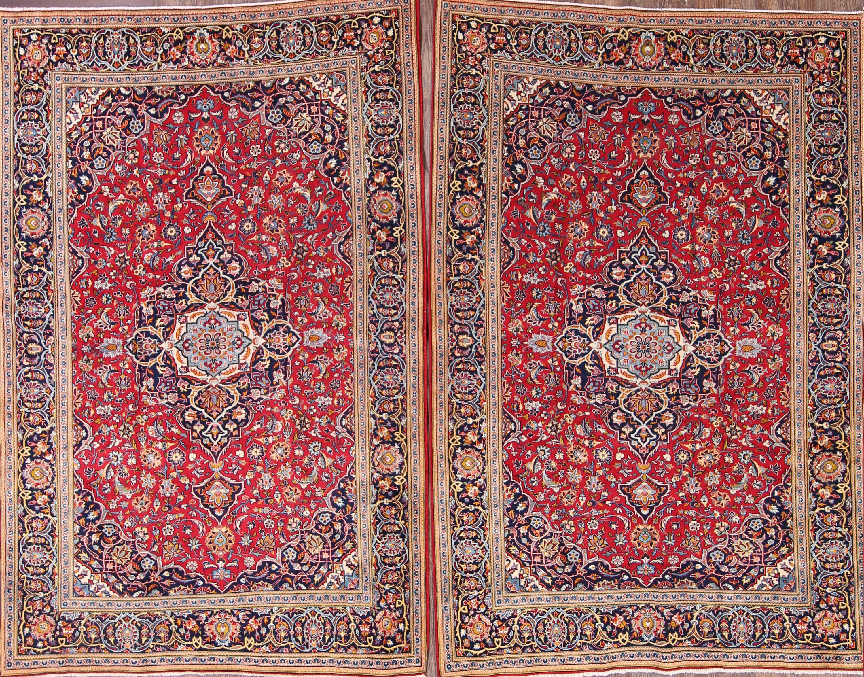 5x7 Kashan Persian Area Rug