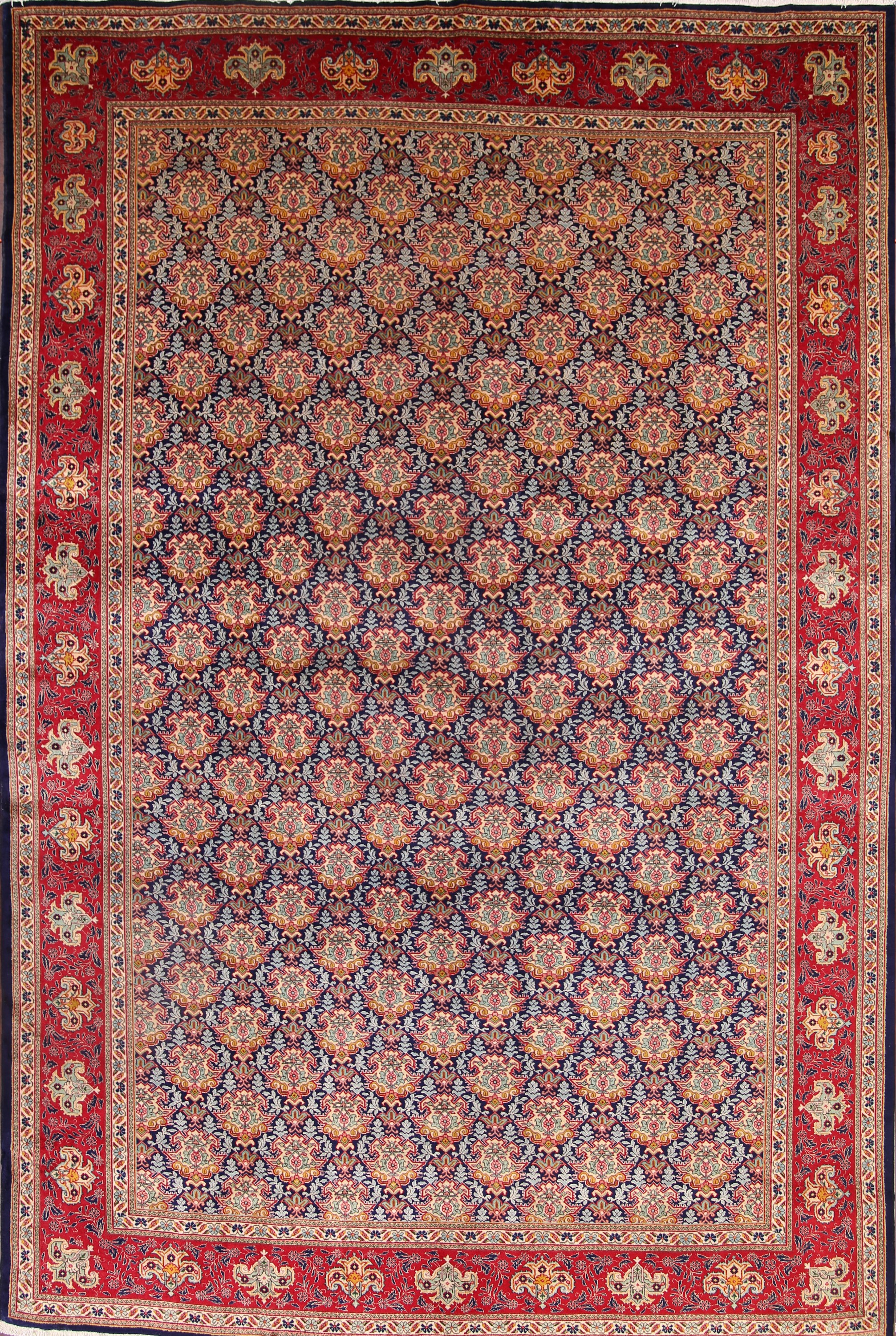 Palace Sized Floral 11x17 Tabriz Persian Area Rug