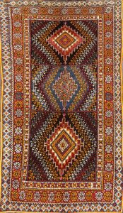 Vintage Geometric 5x9 Moroccan Oriental Area Rug