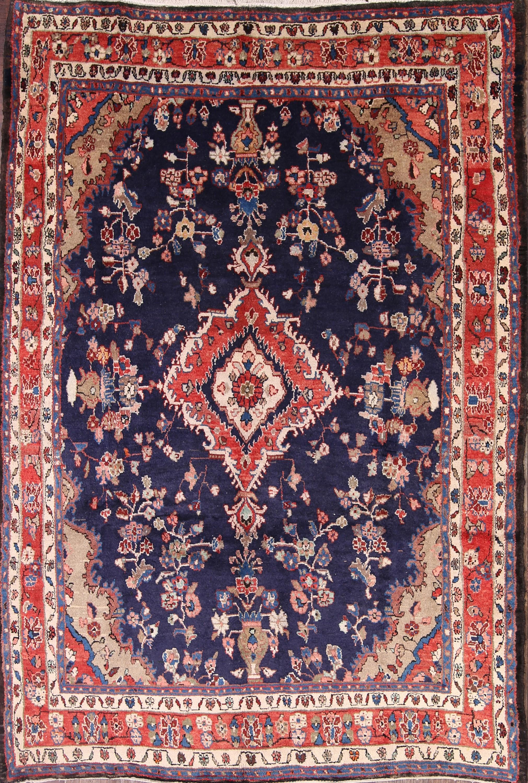 7x9 Hamadan Persian Area Rug