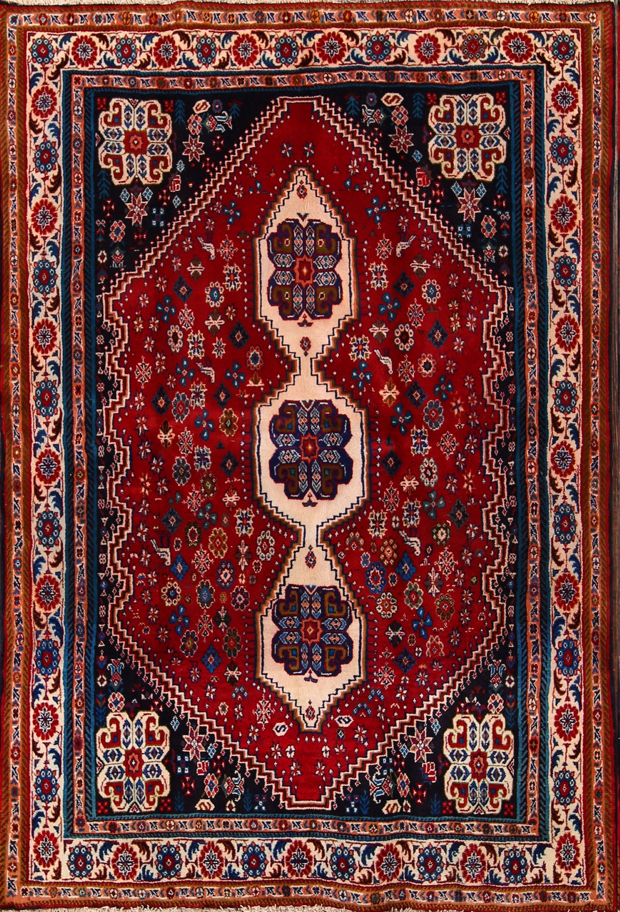 5x7 Abadeh Shiraz Persian Area Rug