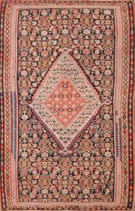 4x6 Kilim Senneh Bidjar Persian Area Rug