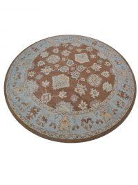 Hand-Tufted Oushak Oriental Round Rug 10x10