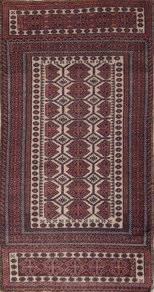 3x6 Balouch Oriental Rug Runner