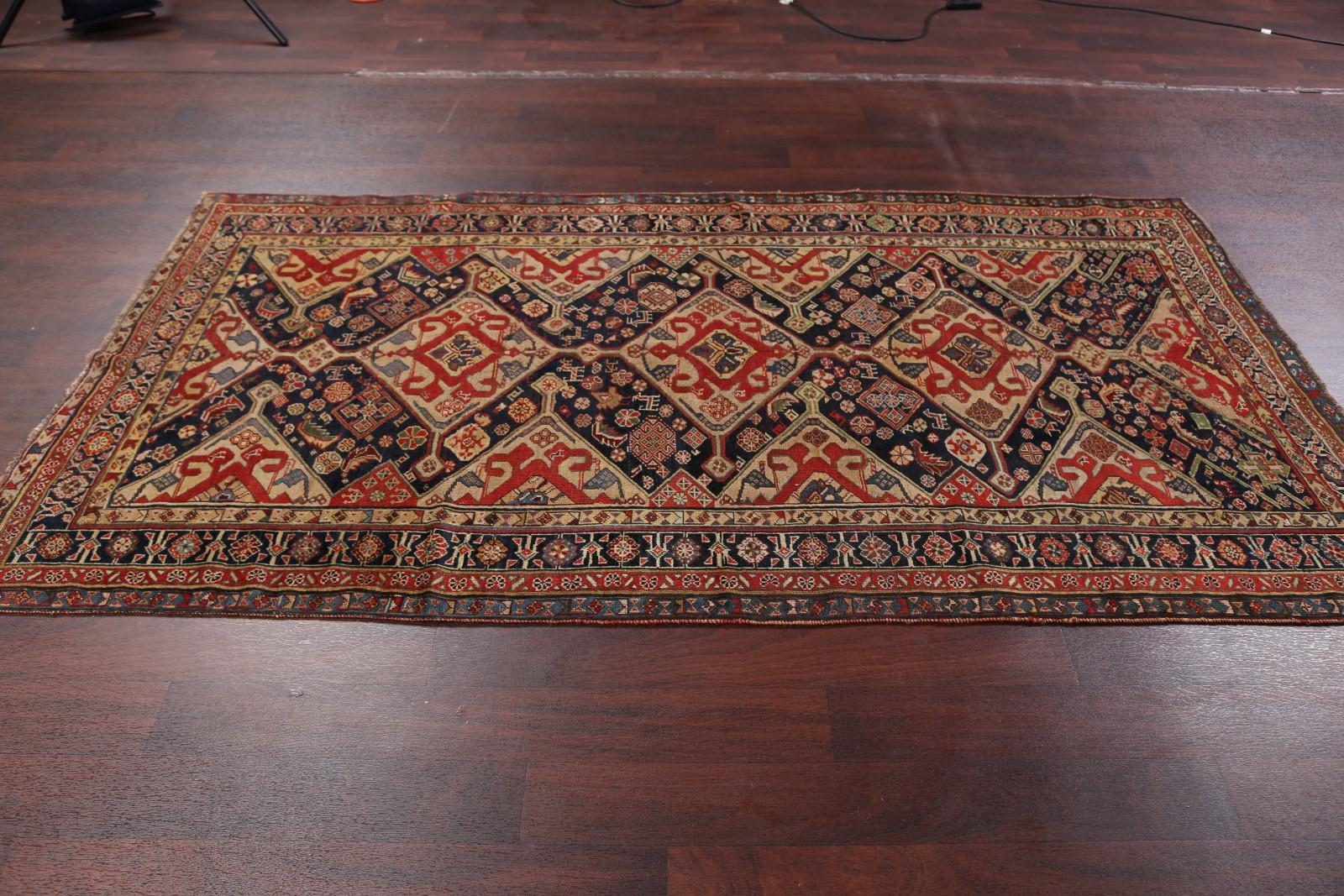 5x8 Kazak Russian Oriental Area Rug
