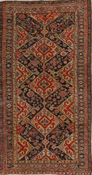 Antique Kazak Caucasian Russian Oriental Area Rug 5x8