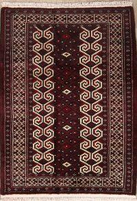 Geometric 3x4 Turkoman Balouch Bokhara Persian Area Rug