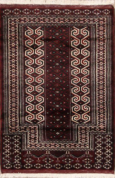 3x4 Turkoman Balouch Persian Area Rug