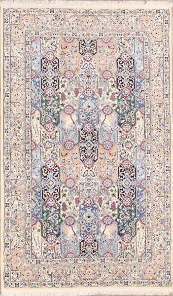 5x8 Nain Isfahan Persian  Area Rug